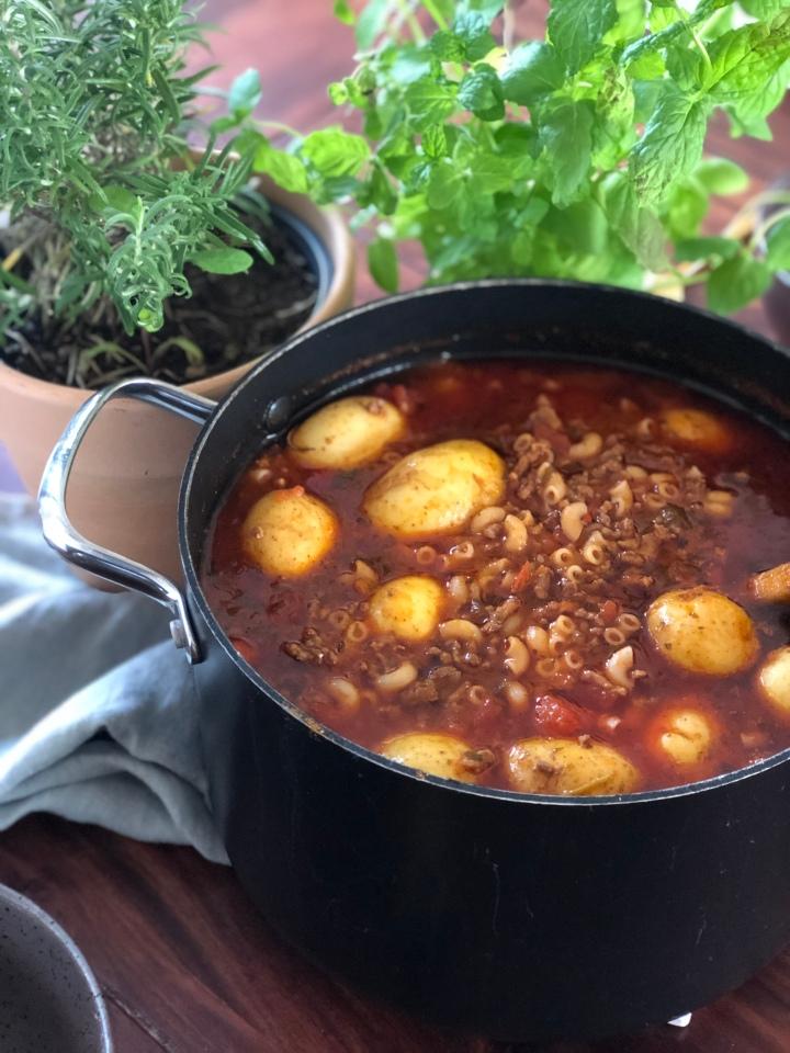 Tyrkisk inspireret suppe