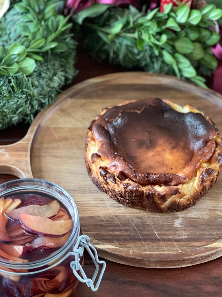 Brændt cheesecake med den karamelliserede top. Mums!